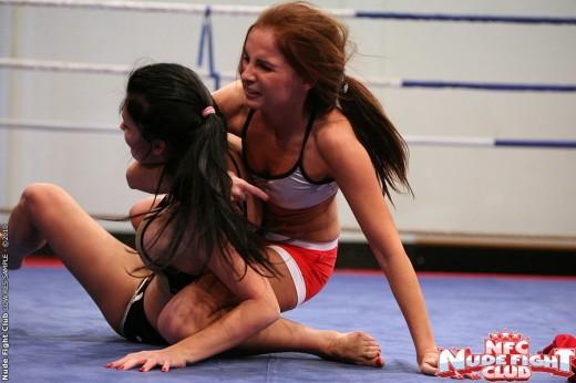 Kissy and Aletta Ocean wrestling | 21Sextury Nude Fight Club