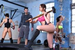 Aleska Diamond at the gym | Big Tits In Sports