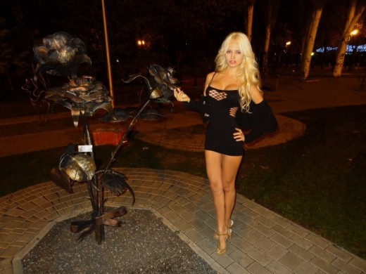 SexySweetNastya from Live Jasmin in sexy little black dress