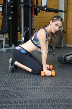 MFC GianaMakenzie in fitness outfit at gym