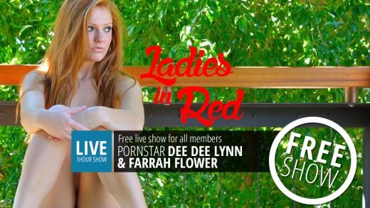 Dee Dee Lynn & Farrah Flower live show Ladies in Red   Webcams