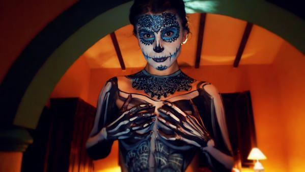 MFC KickAz with Dia De Los Muertos body paint