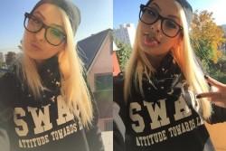 LJ webcam babe AdrennaLyne wearing glasses