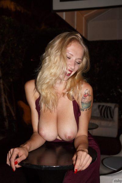 Natasha Legeyda shows off her big naked natural boobs   Zishy
