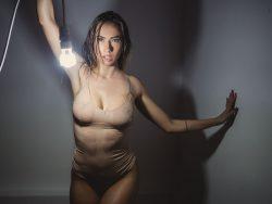 AnniaMiller in wet leotard