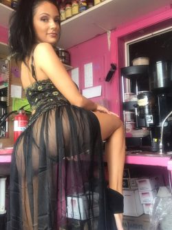 pornstar Sofi Ryan in sheer skirt