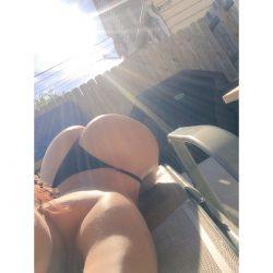 Vera Sky in black bikini thong