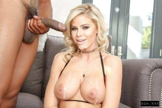 facial & cum on tits forJessa Rhodes