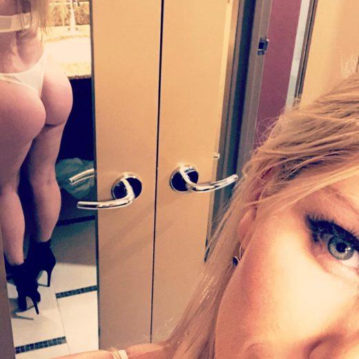 Ashley Fires takes a thong selfie