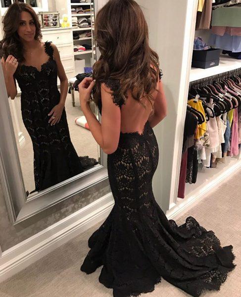beautiful Danielle Jonas in gown
