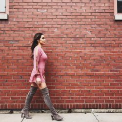 Danielle Robay in thigh high boots