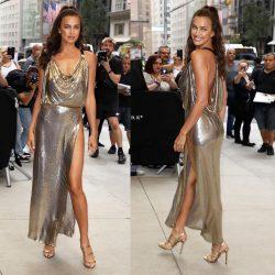 hot modelIrina Sheik in public wearing sexy dress