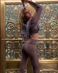 Joy Corrigan shows her hot ass in yoga pants
