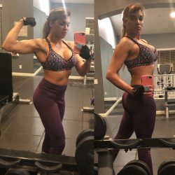 gym selfie by fit Mercedes Carrera