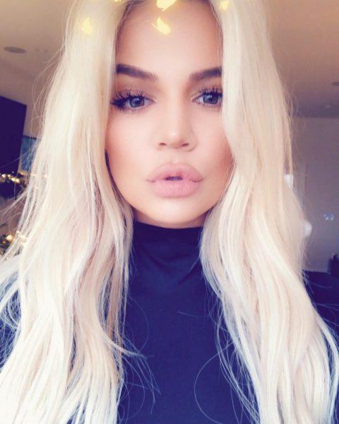 reality TV starKhloe Kardashian with long blonde hair