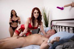 Miss Molly Stewart gives handjob to Keiran Lee in bondage | Brazzers HotAndMean
